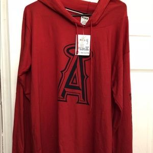 Vs Pink Angels Long Sleeve Hooded Shirt